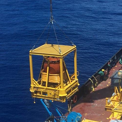Imenco Nautronix NASNet subsea positioning system being deployed