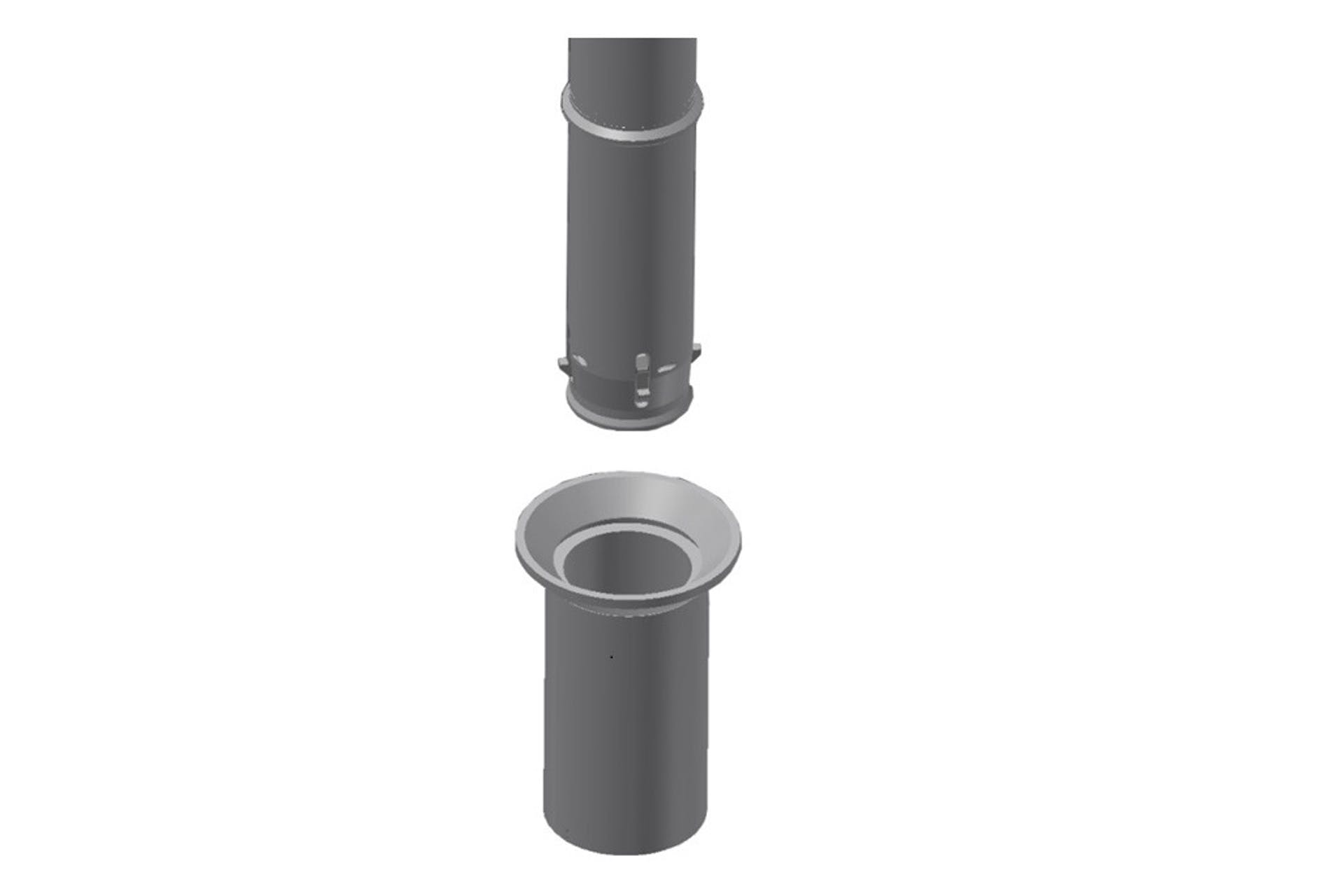 Receptacle for Top Releasable Guidepost – RTR