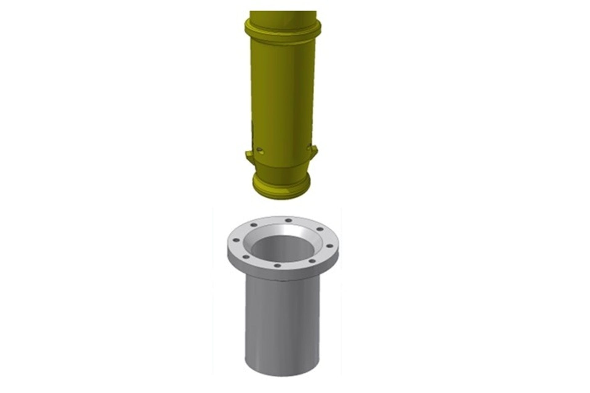 Receptacle for Top Releasable Mini Guidepost – MRTR