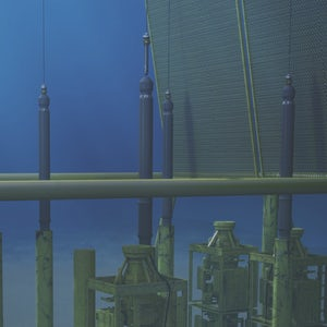 Seabed guidepost and subsea anchor cut desaturated-003